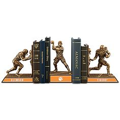 Clemson Tigers Football Legacy Cold-Cast Bronze Bookends Collection