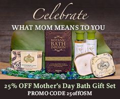 GREAT OFFER for our Pinterest FRIENDS! 25% off the Mother's Day BATH GIFT SET! Click HERE: http://ospa.me/1AqftcD @puramissbliss