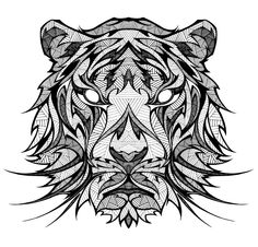Tiger - I would love to have this as a tattoo. Andreas Pries - More drawings... on Behance