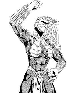 Behold, Kyra - Part I by jijikero on DeviantArt Wolf Predator, Predator Alien, Fantasy Races, Fantasy Warrior, Female Yautja, Predator Cosplay, Aliens Colonial Marines, Alien Girl, Anime Monsters