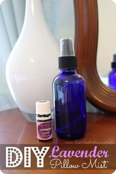 Not sleeping well? Try spraying this lavender pillow mist on your pillow at night! Lavender essential oil can help with anxiety, depression, insomnia, and stress! #nightpillow