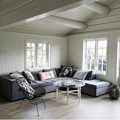 Norwegian cabin painted white