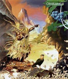 Prece a Obaluaiê-Omulu  Dominador das epidemias. De todas as doenças e da peste. Omulu, Senhor da Terra. Obaluaiê, meu Pai Eterno. Dai-nos saúde para a nossa mente, dai-nos saúde para nosso corpo. Refoçai e revigorai nossos espíritos para que possamos enfrentar todos os males e infortúnios da matéria. Atotô meu Obaluaiê! Atotô meu Velho Pai! Atotô Rei da Terra! Atotô Babá! Black Girl Art, Art Girl, Oya Orisha, Summoning Spells, African Mythology, African Diaspora, Book Of Shadows, Buddhism, Afro