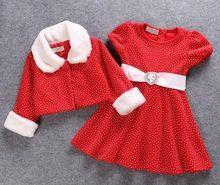 5sets/lot toddler girls clothing sets Christmas long sleeve (coat+dress) baby kids set 1013 sylvia P31600 it(China (Mainland))