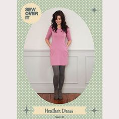 Love snuggly knit dresses? The Heather Dress Sewing Pattern is for you! Flattering princess seams and practical hidden pockets, we know you'll love it!