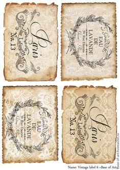 "Decoupage cards ""Base of Art"" ""Vintage labels"". Decoupage cards 'Base of Art' (Base-of-Art). Vintage Tags, Vintage Diy, Vintage Crafts, Vintage Labels, Vintage Ephemera, Vintage Paper, Vintage Postcards, Decoupage Vintage, Printable Labels"