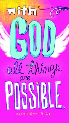 With God All Things are Possible!    {Find this card at a local Christian Retailer near you!}