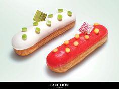 """Éclairs Salés L'éclair """"Explosion Mangue-Saumon"""" et l'éclair """"Explosion Pomme-Crabe"""" #MadeinF #FAUCHON #FruitFiction"""
