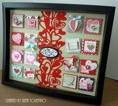 Relax. Make a Card: Valentine Square Collage Frame