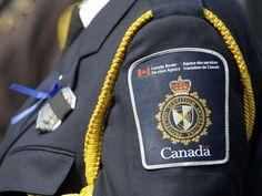 This female border officer wears her Canada Border