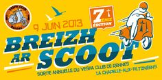 Breizh ar scoot 2013 Vespa, Illustrations, Creations, Wasp, Hornet, Illustration, Vespas, Illustrators