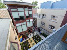 shipping container development courtyard