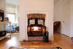 Wood burning stove in this self catering holiday cottage in Aldeburgh - 3 Crescent Road
