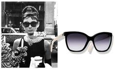 Audrey Hepburn lunettes de soleil Chanel http://www.vogue.fr/mode/shopping/diaporama/lunettes-de-star-shopping-inspiration-printemps-ete-2014/19072/image/1007134