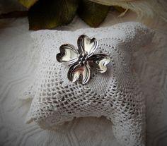 Vintage Beau .925 Sterling Silver Dogwood Flower by bijoullery