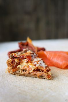 Quiche with Smoked Salmon + Sundried Tomatoes