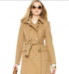 Michael Kors Trench. All ready for the leaves to turn!
