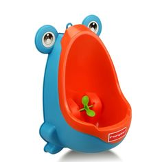 BabyGo Boy Potty Toilet Training Kids Frog Stand Vertical Urinal Boys Penico Pi Infant Toddler Wall Urinals (Blue). Perfect for Toilet Training for Boys between the Ages 6 month and 8 years. Bright Colored Urinal Froggy Shape is Perfect for Little Boys. Adjustable Height.RemovableBowl Insert for Easy to Clean and Hygienic. Super Suction Cup,Sticks to Tiles, Firm and Reliable. Portable Hook Hardware, Using More Solid.Easy to Install.
