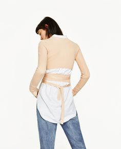 CROPPED SWEATER WITH RIBBON-NEW IN-WOMAN-COLLECTION SS/17 | ZARA United States