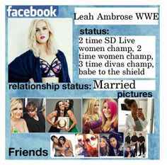 """""""Leah Facebook Page"""" by thefuturemrsambrose ❤ liked on Polyvore featuring WWE"""