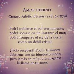 Amor Eterno - Gustavo Adolfo Bécquer - AnsinaEs.com