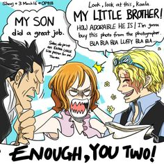 I can totally see this happening. Sabo keeps talking about Luffy and Dragon is silently bragging ♡