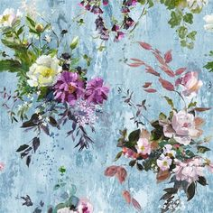 Aubriet - Slate Blue fabric, from the Jardin des Plantes collection by Designers Guild