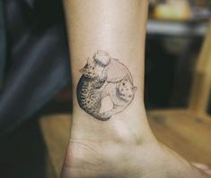 Two cats tattoo by Sol Art