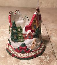 """1994 Fitz & Floyd-""""The Moon on the Breast of the New Fallen Snow"""" Candle Holder"""