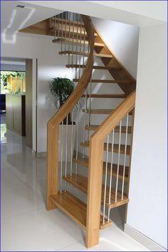 Attic Bathroom Lighting and Attic Stairs Layout. Space Saving Staircase, Attic Staircase, Loft Stairs, Modern Staircase, House Stairs, Staircase Design, Staircase Ideas, Stairs For Attic, Spiral Staircase