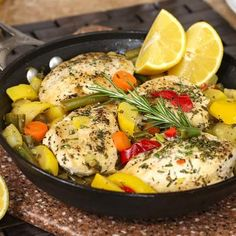 20-Minute Skillet Rosemary-Lemon Chicken