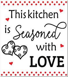 Fridge Magnet - Seasoned with Love Magnets, Surface, Seasons, Love, Amor, Seasons Of The Year