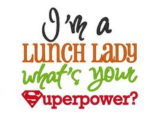 I am your Lunch Lady Lucy and I ROCK!! Woodstock Elementary School, Woodstock, GA.