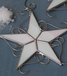 Star Ornaments.  Looks like the ones I made last year!!  Love