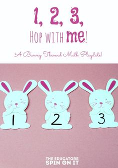 Easy D.I.Y Preschool bunny math activities