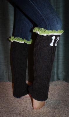 Seattle Seahawks Charcoal 12th Man Leg Warmers