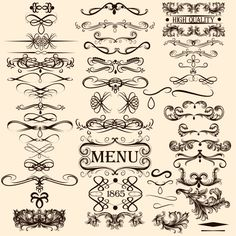 Calligraphy-with-menu-ornaments-vector-material.jpg