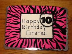 Birthday cake Ashley did for 10 yr. old girl who was having scavenger hunt bday party.