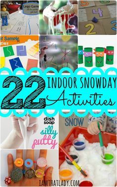Are you sick of having bored kids by being stuck in the house all winter? Here are 22 indoor snow day activities - the perfect kids crafts to keep any kid occupied all day!