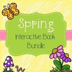 Interactive Books: Spring Bundle from The Speech Attic on TeachersNotebook.com -  (48 pages)  - This bundle covers verbs, pronouns, Spring vocabulary, inferencing, following directions.