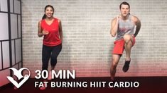 30 Minute Fat Burning HIIT Cardio Workout at Home for Women & Men - 30 M...
