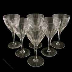 @antiquesatlas posted to Instagram: Set of Six Wine Glasses c1930. A set of six early 20th century tall wine glasses. The glasses have a funeral shaped bowl with facet cut decoration, a tapering hexagonal stem and a plain foot. The glasses are in good condition. (Circa 1930). For sale from Graham Smith Antiques on Antiques Atlas. To locate the item type the id code as102a5136 into the search on Antiques Atlas. #earlyglass #antiquedrinkingglasses #antiqueglasses #antiqueglass #antiquewineglass Objet D'art, Antique Glass, Victorian, Funeral, Wine, Glasses, Antiques, Decoration, Graham