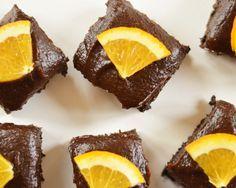 carob & orange squares (vegan, GF, oil free,refined sugar free)  #vegan #gf #recipe #orange