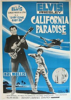 Easy come easy go 1967 Elvis Presley cult movie poster print