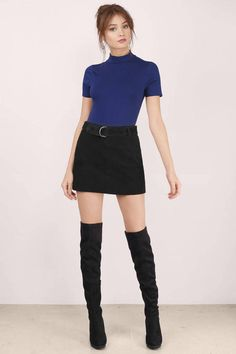Shop now for your long sleeve, halter, even backless bodysuits in black, white & red + Get Off First Order! Cute Girl Outfits, Simple Outfits, Stylish Outfits, Backless Bodysuit, Night Outfits, Summer Outfits, Waitress Outfit, Leather Leggings Outfit, Tumblr Outfits