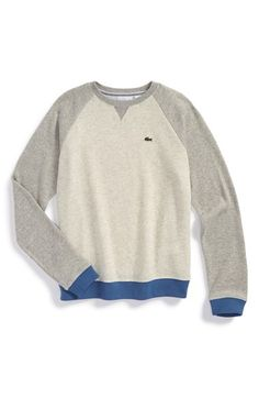 Lacoste Contrast Raglan Sleeve Sweater at #Nordstrom