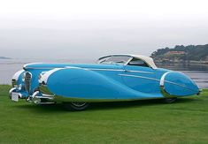 RARELY EVER SEEN OLDE CARS! - 1949 DELAHAYE 175 S SAOUTCHIK CONVERTIBLE ROADSTER - AMAZING LINES! Más