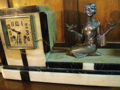 French Art Deco Clock Garniture