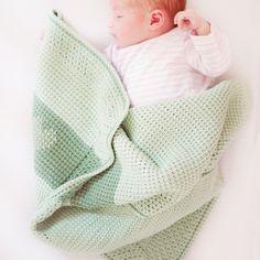 Babydeken tunisch haakpakket - Wolplein.nl