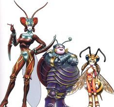 FFX The Magus Sisters- From left to right: Sandy, Cindy, and Mindy